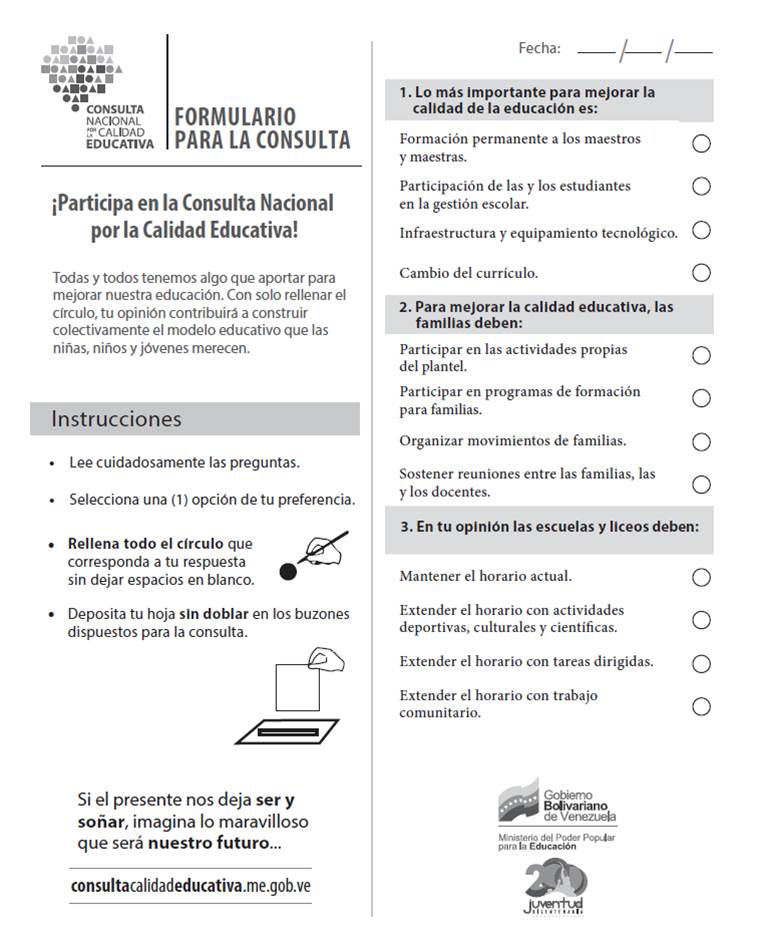 Consulta Nacional por la Calidad Educativa | Observatorio Educativo ...