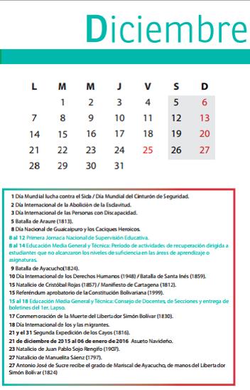 calendario media